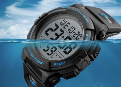 37f894cdd11 Relógio esportivo digital masculino SKMEI 1258. Marca  Skmei